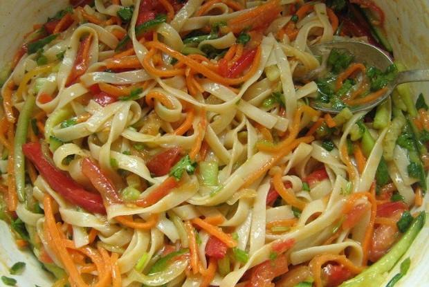 Лапша удон с овощами