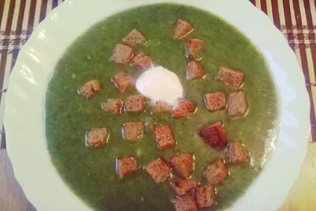 Крем-суп из шпината и брокколи