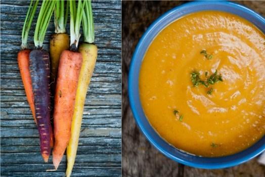 Морковный суп с апельсином и имбирем