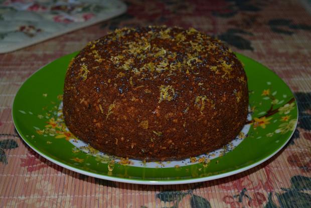 Ореховый бисквит с цитрусовым сиропом