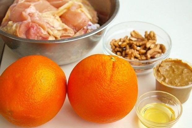 Курица в апельсиново-горчичном соусе