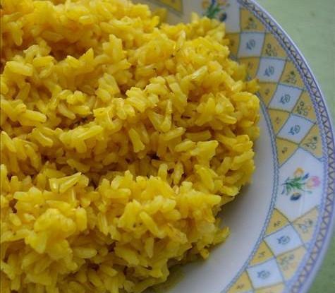 Ароматный рис на сковородке