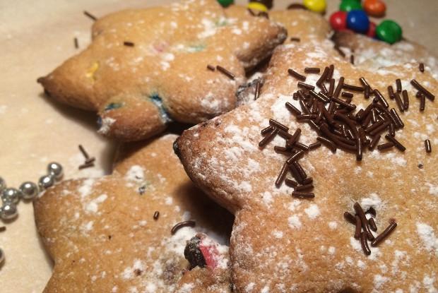 Печенье с M&M's и корицей
