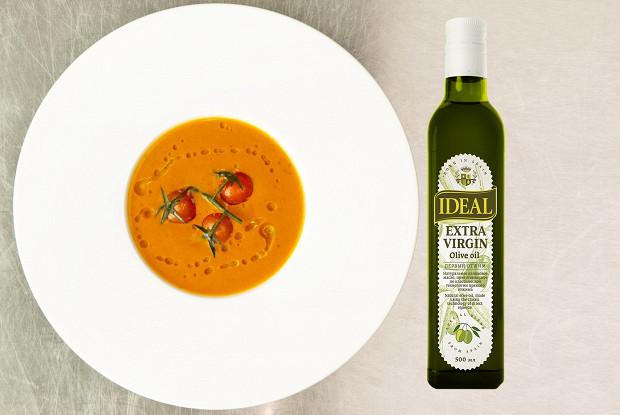 Суп из печеных помидоров