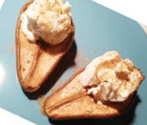 Пряное творожно-грушевое мороженое