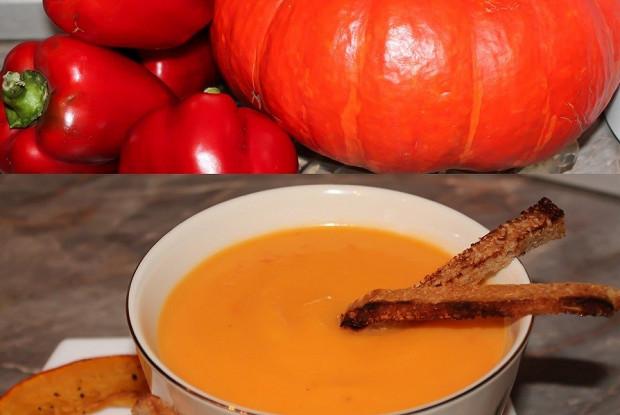 Крем-суп из тыквы и болгарского перца