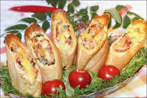 Стаканчики хлебные из багета