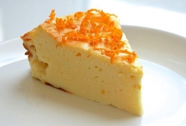 Творожный пирог с апельсиновой цедрой