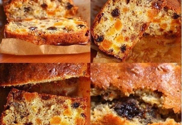 Кекс с сухофруктами и орехами (Cupcake with dried fruit and nuts)