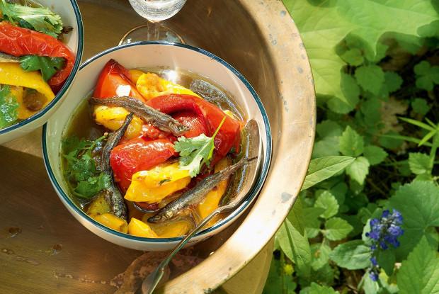 Банья-кауда с овощами