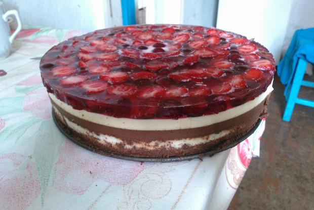 Торт «Три шоколада» со сливками