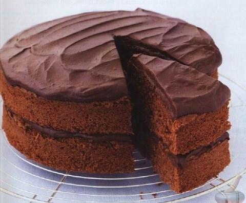 Шоколадный торт из горького шоколада