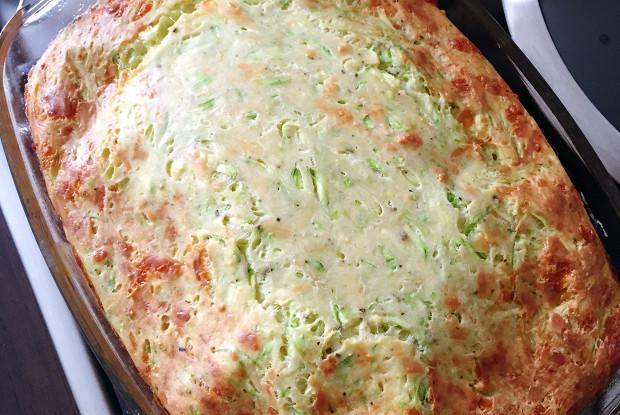 Запеканка из кабачков с сыром и зеленью