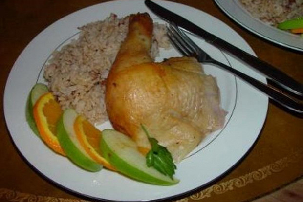 Курица в белом вине с овощами