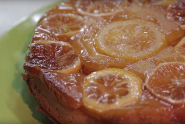 Лимонный кекс-перевертыш