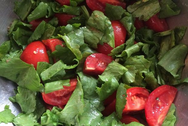 Индийский салат качамбер с кресс-салатом