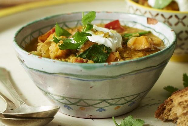 Чечевичный суп со шпинатом от Джейми Оливера