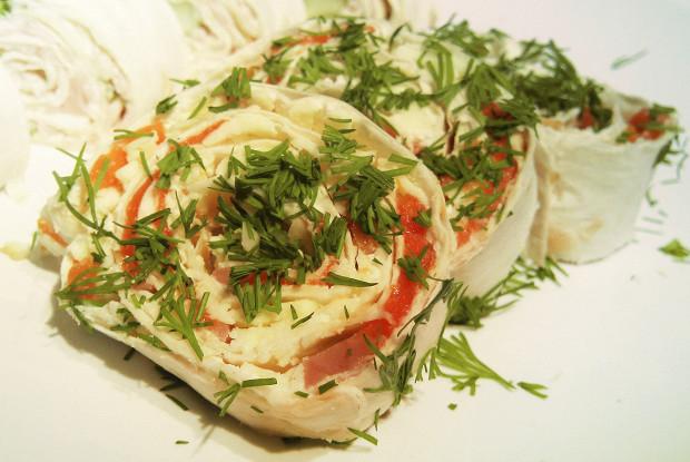 Рулеты из лаваша с красной рыбой и творожным сыром