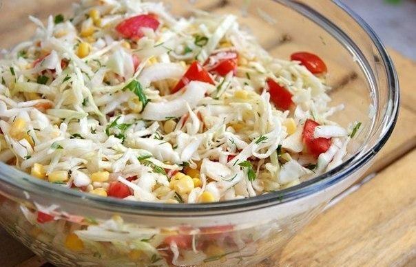 Салат «Летний» с капустой