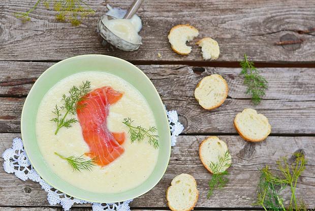 Крем-суп с семгой в мультиварке