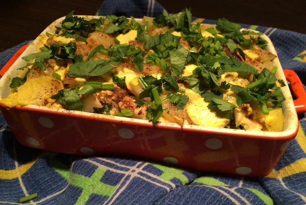 Картофель запеченный с адыгейским сыром «Алу гауранга»