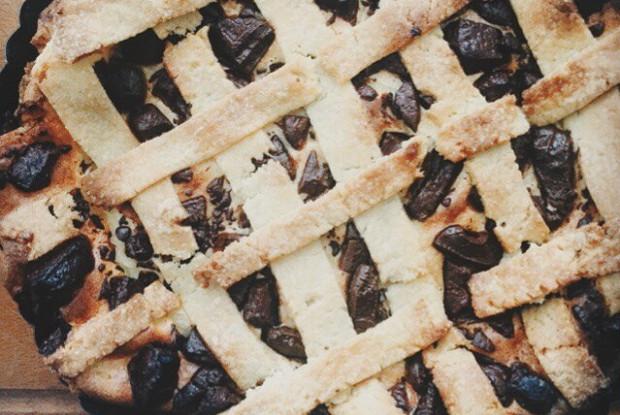 Творожный пирог с шоколадом и цитрусом