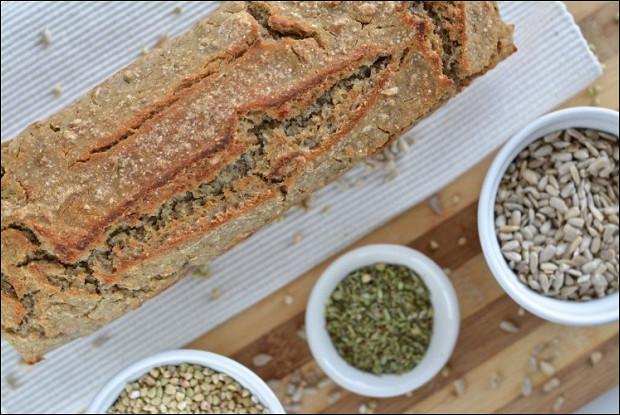 Домашний хлеб из ферментированной гречки