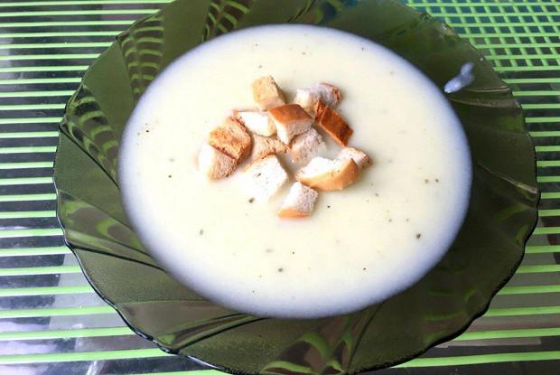 Сливочный суп с картофелем и кабачком