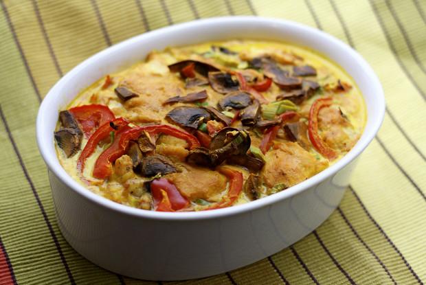 Курица карри запеченная с сыром и овощами