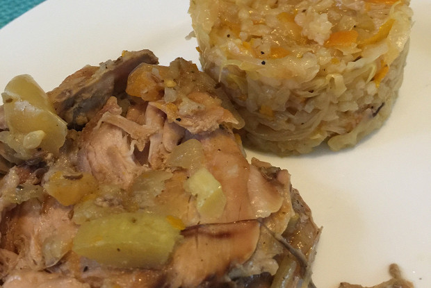 Греческая солянка с рисом лаханоризи