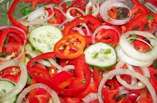 Овощной салат по-армянски