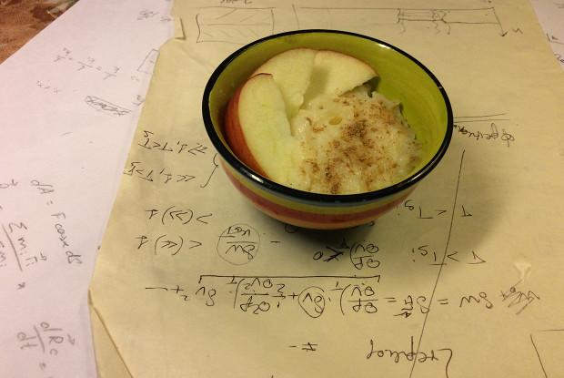 Яблочный крем с корицей