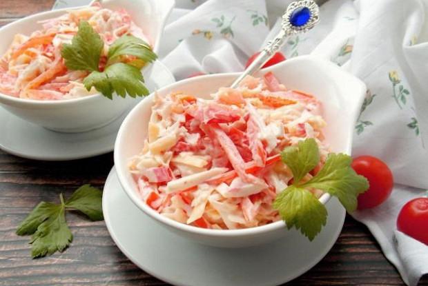 Салат «Красное море» из крабовых палочек