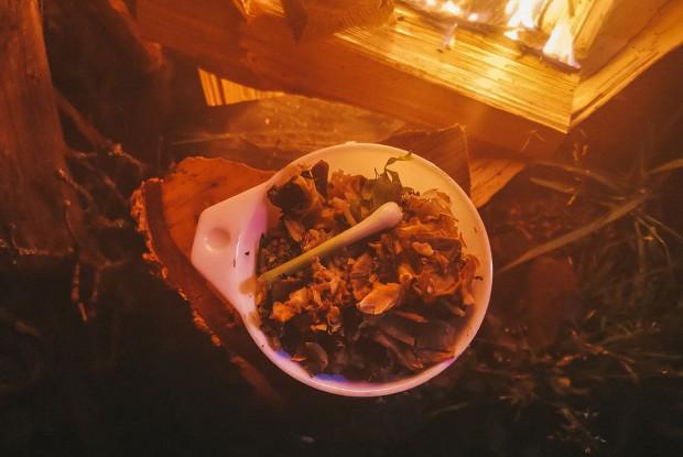 Басмати с белыми грибами под ореховым соусом