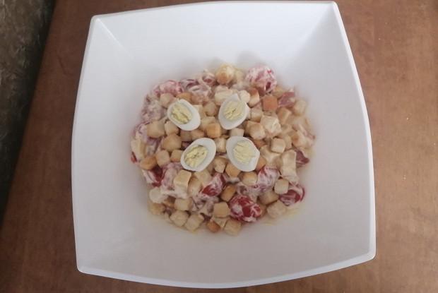 Салат с копченой курицей и пармезаном
