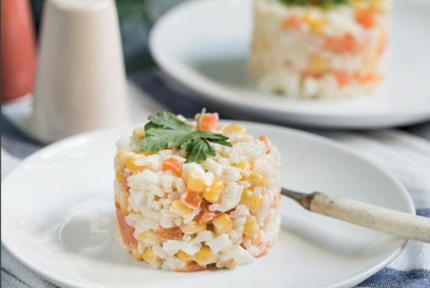 Веганский крабовый салат