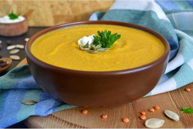 Суп из тыквы с ореховой пастой