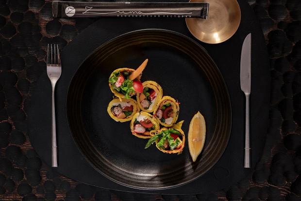 Салат с крабом и яйцом «Канье Уэст»