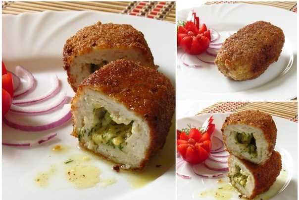 Котлеты из курицы с сыром и укропом