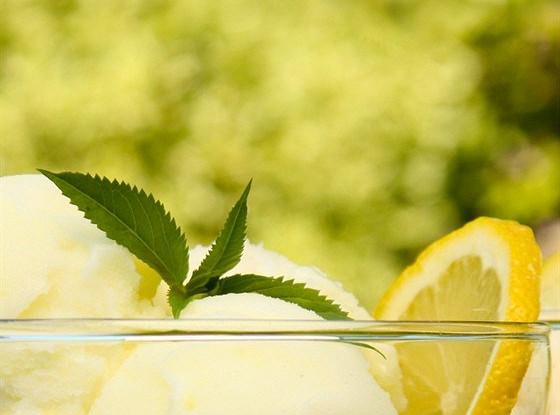 Лимонное сливочное мороженое