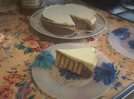 Апельсиновый торт с суфле из белого и молочного шоколада