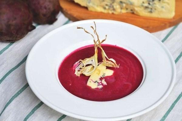 Суп-пюре из печеной свёклы