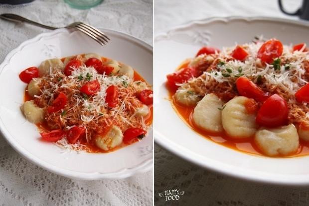 Картофельные ньокки с острым томатным соусом