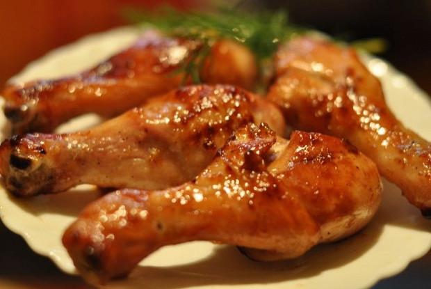 Куриная голень в горчично-медовом соусе