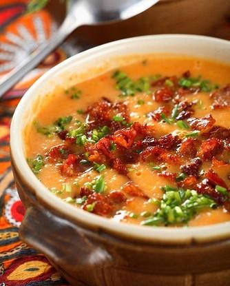 Суп из тыквы баттернат и бекона