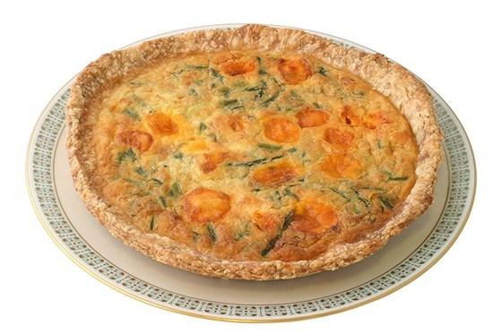 Пирог из спаржи и сыра