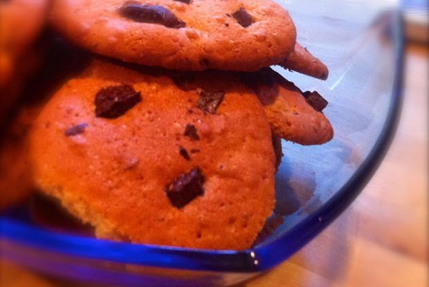 Простое печенье с шоколадом
