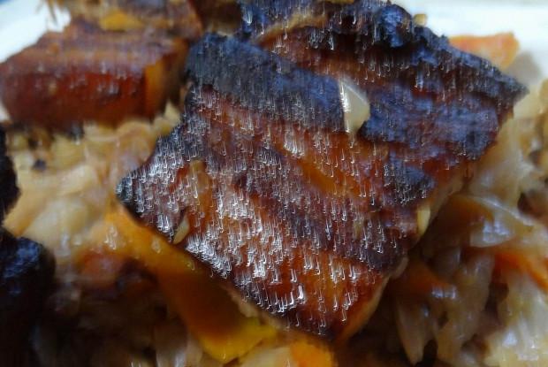 Запеченные маринованные свиные ребра