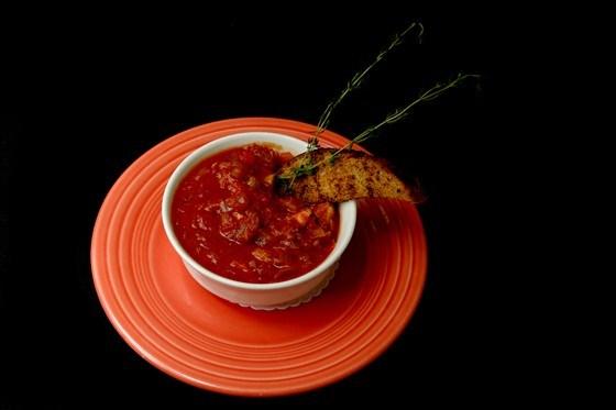 Хлебно-томатный суп
