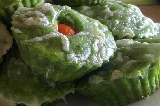 Маффины со шпинатом, брокколи и адыгейским сыром